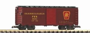 PIKO-G-SCALE-PRR-STEEL-BOXCAR-80464-TUSCAN-BN-38825