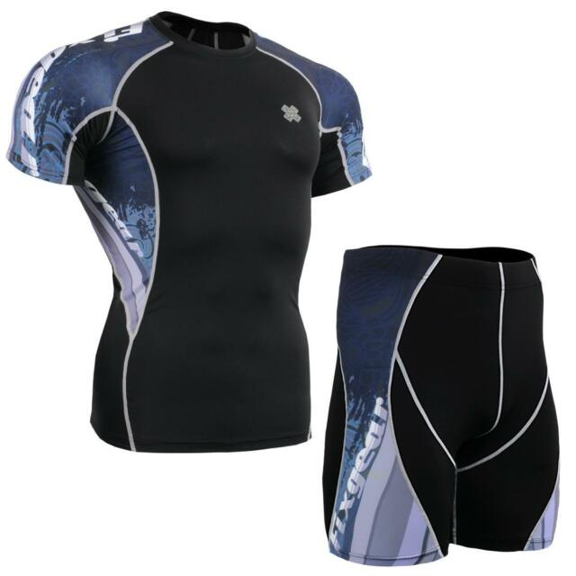 FIXGEAR C2S/P2S-B48 SET Compression Shirts & Shorts Skin-tight MMA Training Gym