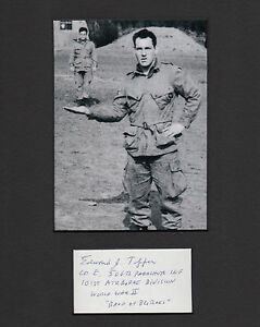 Band of Brothers 101st AB Easy Company Autographed Portrait Ed Tipper