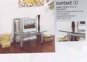 Carrello porta tv con ruote in stile vintage usato paternoster