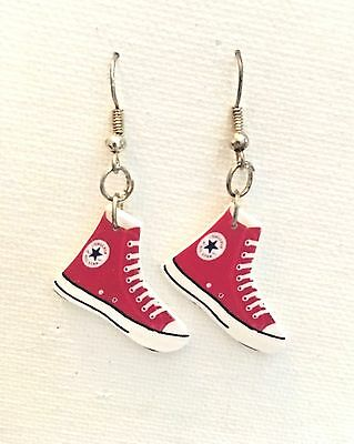 Converse Chuck Taylor Earrings HANDMADE PLASTIC CHARMS Sneaker Tennis Shoe Retro