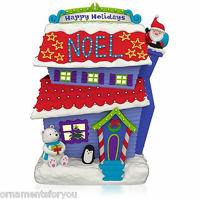 Hallmark 2015  Merriest House in Town Magic Cord Ornament
