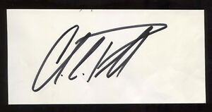 Colin Powell Signed Book Page Cut Autographed Signature General