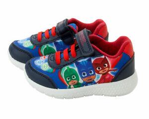 Boys-PJ-Masks-Trainers-Infant-Canvas-Touch-Fasten-Laces-Shoes-UK-Sizes-5-10