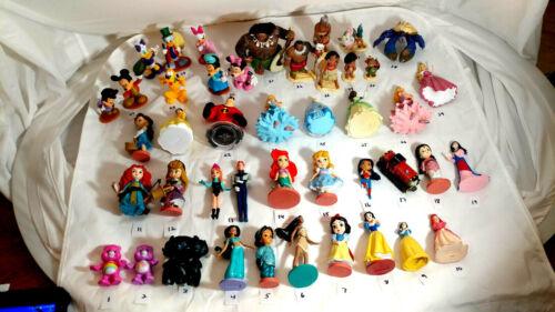 Disney Pixel CAKE TOPPERS Mickey Minnie Ariel Duck Thomas Princess etc...