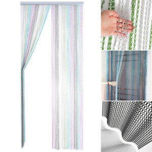 214x90CM Aluminum Door Curtain Metal Chain Fly Insect Blinds Home Curtain