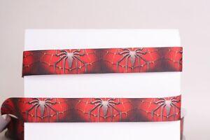 "HALLOWEEN SPIDER WEB PURPLE 7//8/"" Grosgrain Ribbon 1 10 YardS SHIP FROM US 3 5"