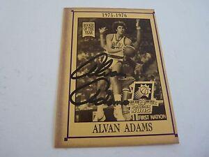 Alvan Adams Suns 25 Years Signed Autographed Basketball Card PSA Guaranteed