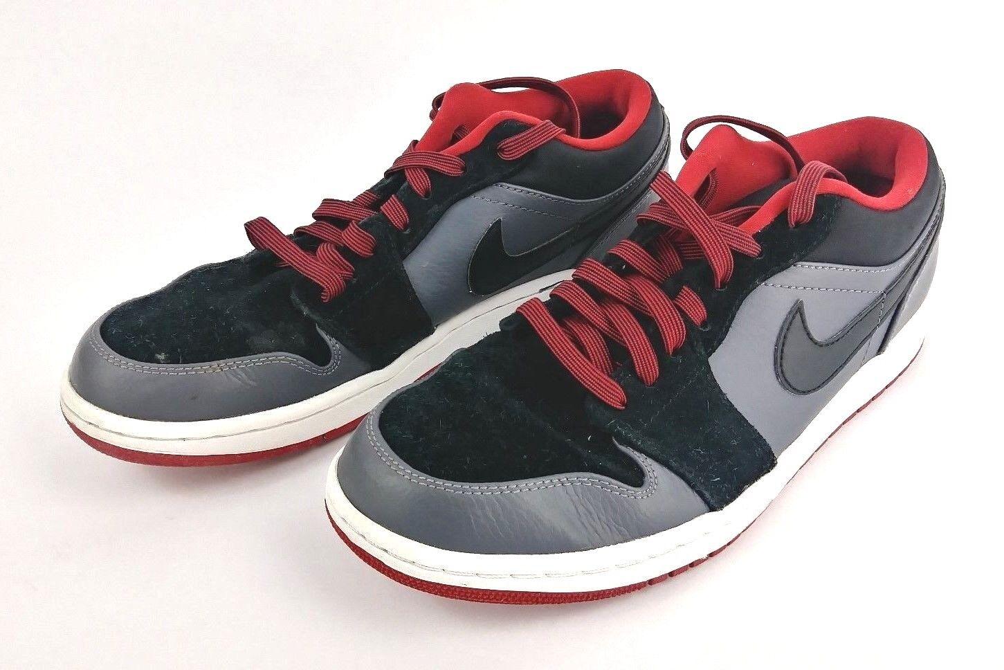 Air jordan 1 basso Uomo scarpe / 553558-002 rosso - nero / scarpe grigio misura 8,5 a0d939
