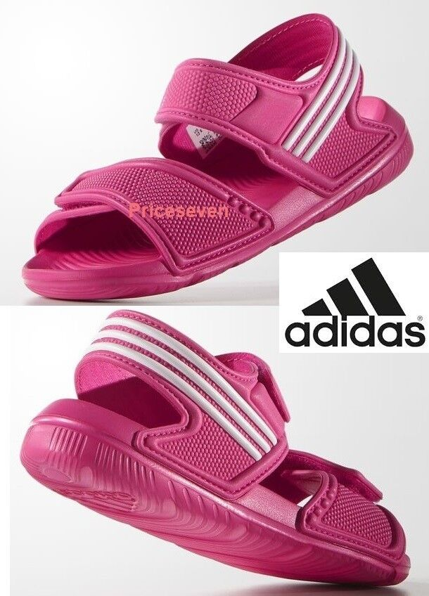 sells amazon outlet on sale adidas Akwah 9 Girls Kids Pink Flip Flop Sandals Beach Shoes for ...