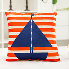 Home Decor Anchor Sail Boat Rudder Life Buoy Cotton Linen Cushion Cover 45cm