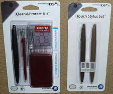 NINTENDO DSi XL OFFICIAL ACCESSORY PACK GAME CASE 4 STYLUS SCREEN PROTECTOR NEW!