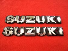 SUZUKI GT750 TANK BADGES METAL SILVER (LEFT & RIGHT) ***UK STOCK***