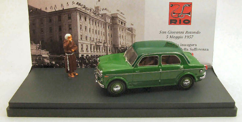Fiat 110 TV-5 Padre Pio 1956 + Figure S. Pio 1 43 Model RIO4367P RIO