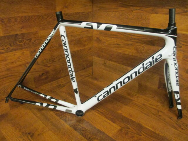 CANNONDALE SUPER SIX HI MOD EVO CARBON ROAD BIKE FRAME SET 56 CM