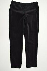 TALBOTS Heritage Size 6 PETITE Womens BLACK VELVET Tapered Leg STRETCH Pants