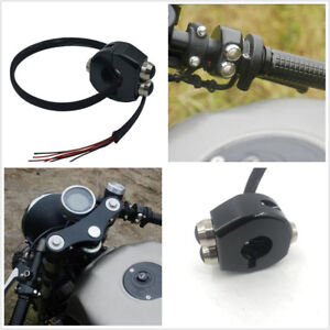 2 x 25mm//1/'/' Motorcycle Cafe Race Handlebar Mount Reset Buttons Momentary Switch