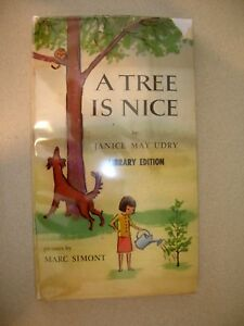 A-Tree-Is-Nice-By-Janice-May-Udry-Signed-By-Illus-Marc-Simont-1956-1st-Ed-Thus
