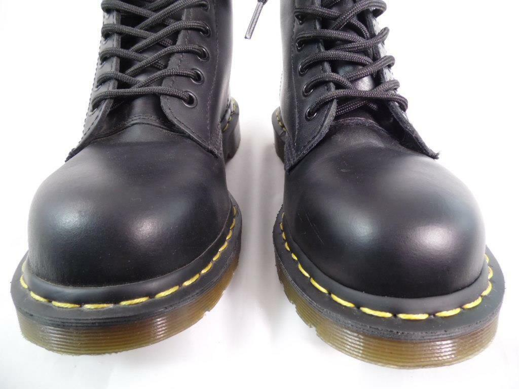 DR MARTENS 1919 BLACK SMOOTH LEATHER 10 EYE STEEL TOE CLASSIC BOOTS NOS