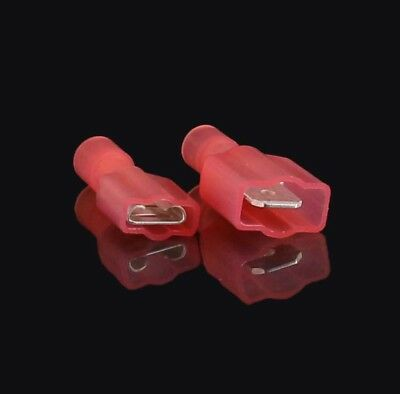 100 Pack 22-18 Gauge Female Fully Insulated Quick Disconnect Terminals .250/""