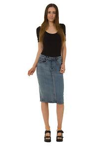 92dfdba094 Dettagli su USKEES KAY Gonna di jeans midi - Midwash gonna a tubino gonna  alla moda