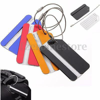 Aluminium Travel Luggage Labels Baggage Suitcase Tag Belt Buckle Adress Holder