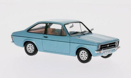 Wonderful modelCoche FORD ESCORT II LHD 1975  - azul metallic  - 1 43 - lim.ed.500