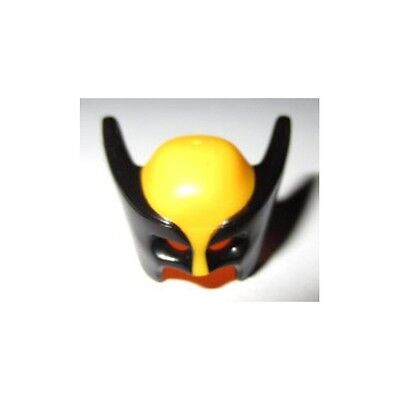 Headgear Mask Wolverine w// Black Pointed Sides Pattern Minifig LEGO