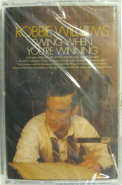 "ROBBIE WILLIAMS ""SWING WHEN YOU'RE WINNING""  musicassette sealed"