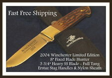 """New Winchester 2004 Limited Edition 8"""" Hunter Erstaz Stag Handles Fast Free Ship"""