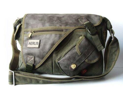 "/_MULTIFUNCTION/_men/'s strang canvas Casual style shoulder bag/_M170G For A4 14/"""