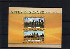Canouan Grenadines St Vincent 2013 Sites Scenes World 2v S/S Rapa Nui Angkor Wat