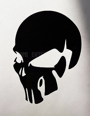 Black Evil SKULL Decal Sticker Vinyl Badge for Mitsubishi L200 Outlander Carisma