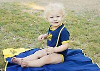 Us Navy Seabees Top Gun Baby Infant Toddler Soft Cotton Blanket 39 X 39