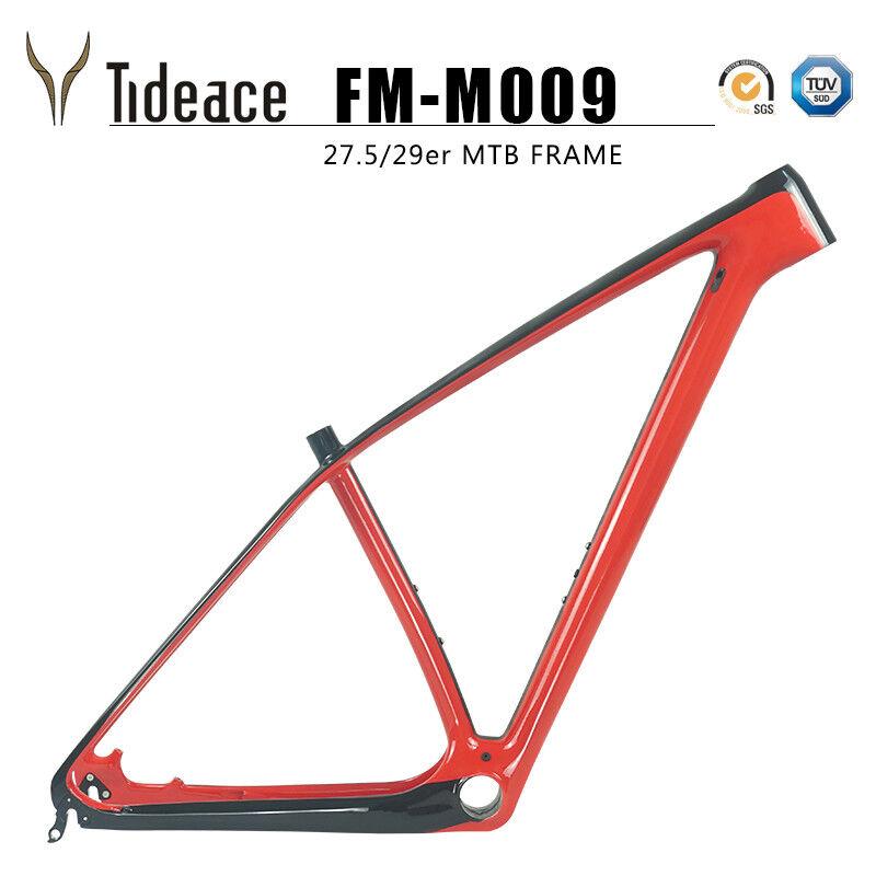 T800 29er de fibra de carbono de Bicicleta Mountain Estilo Eje Pasante 12142mm Marco de fabricante de equipos originales