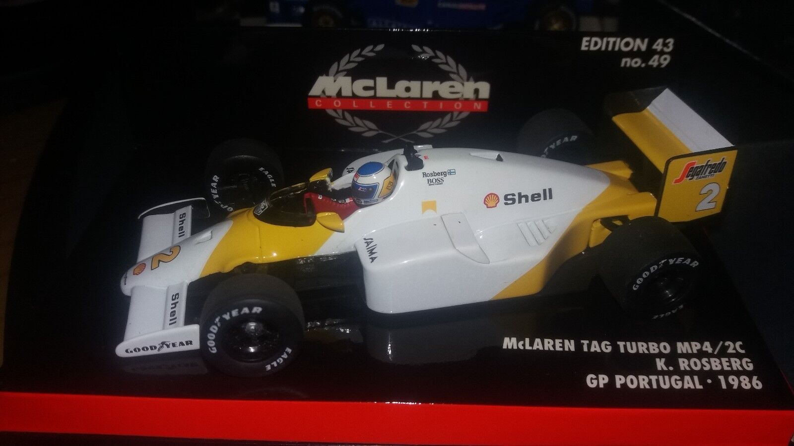Minichamps 1 43 McLaren TAG Turbo MP4 2C  2  K.Rosberg  GP Portugal 1986