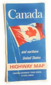 Vintage Canada and Northern United States Highway Map 1969 | eBay