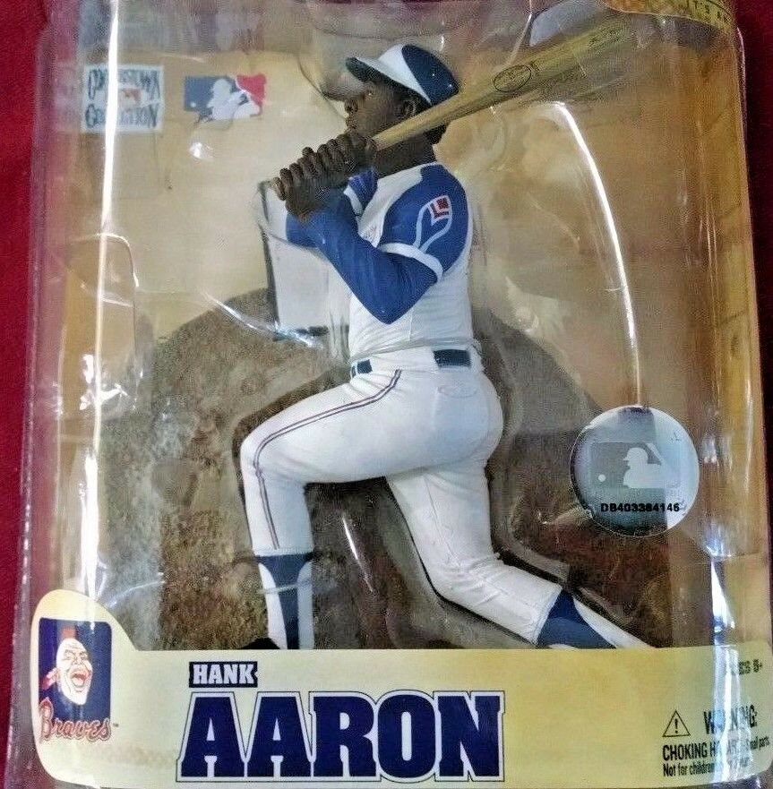 2008 McFarlane Mlb Cooperstown Hank Aaron Atlanta Braves #44 Action Figure