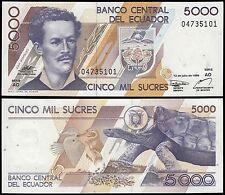 Ecuador 5,000 (5000) Sucres, 1999, P-128c, UNC