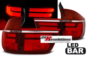 Für BMW X5 E70  03.07-05.10 - LED Rückleuchten in rot weiß