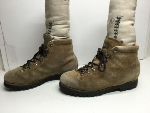 VTG MENS PIVETTA HIKING SUEDE LIGHT BROWN BOOTS SI