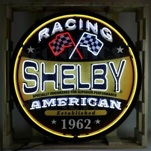 """Neon Sign - HUGE Shelby American Racing 36"""" * Ships FREE to USA! * DISCOUNTED!"""