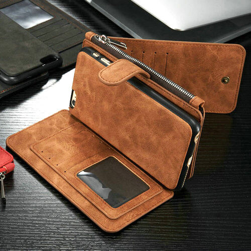 wholesale dealer 84f2d 59e9f Luxury Leather Fashion Stand Stylish Wallet Card ID Case Cover for Mobile  Phone