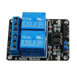 Detalles De 5pcs De Modulo De Rele De 5v 2 Canales Azul Para Arduino Pic Arm Dsp Avr Fr X7o1