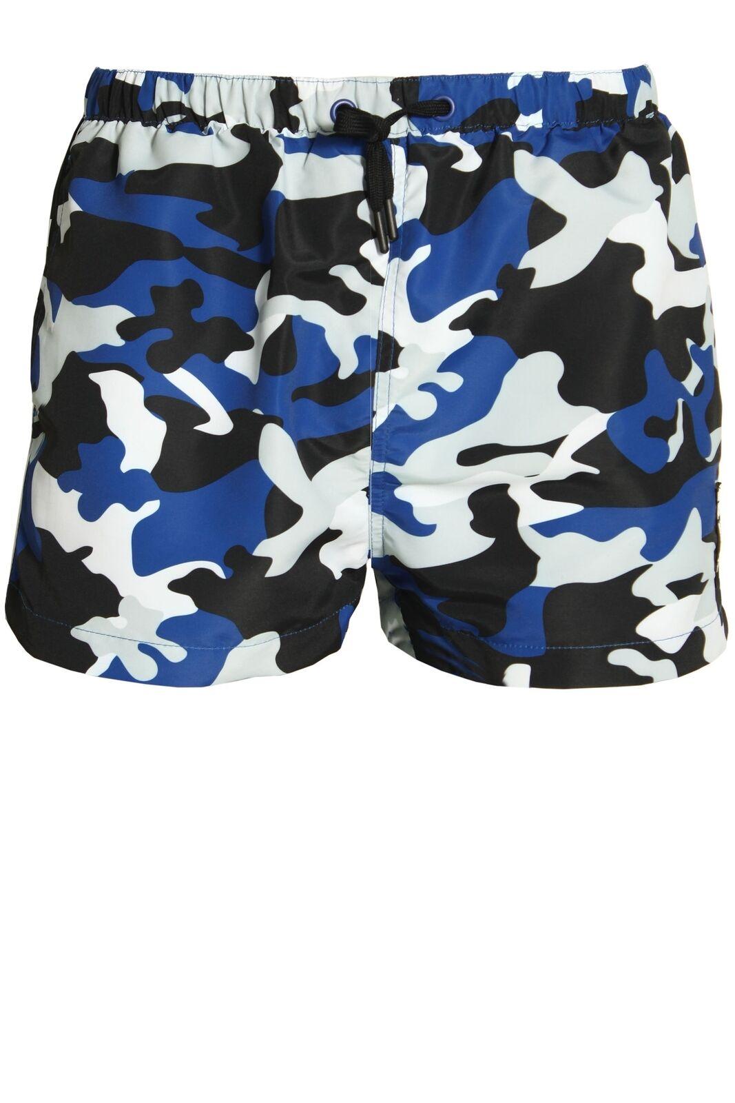 Mens Swimwear ELLESSE Viale Mens Swim Shorts   Navy Camo
