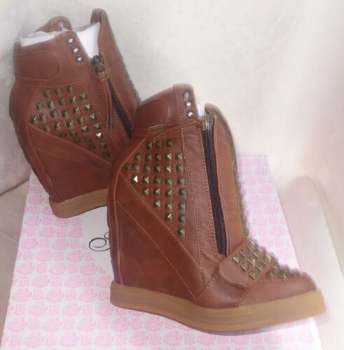 First Love by Penny Loves Kenny brown High top Wedge Sneakers wink sz 6.5 new