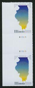 #5274 Illinois Statehood, Horizontal Gutter Par [1] Cualquier 5=