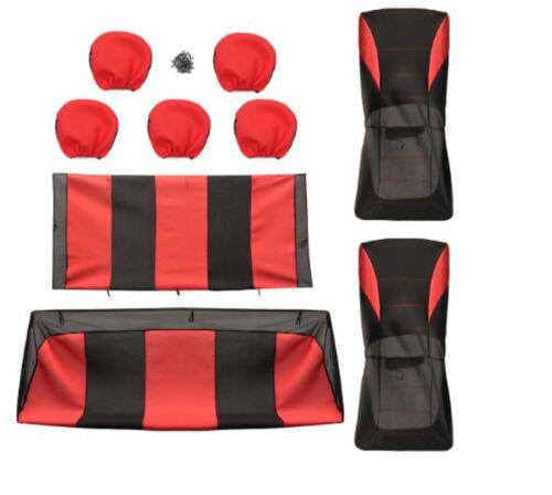 Sitzbezüge Schonbezüge Komplettsatz Polyester Rot für KIA Hyundai Honda Mazda