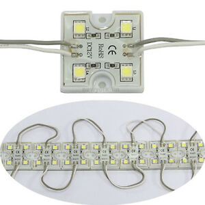 20pcs-4-LED-Cool-White-5050-SMD-Module-Waterproof-Light-Lamp-Strip-DC-12V