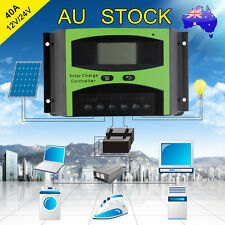 40A 12V/24V LCD Solar Panel Battery Regulator Charge Controller Auto PWM ##TT